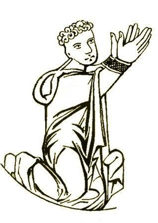 Władysław Łokietek już na starcie miał ciężko. Jego ojciec Kazimierz I Kujawski doczekał się aż pięciu synów. Dwaj z nich byli zaś znacznie starsi od Łokietka. Na ilustracji Kazimierz I na patenie fundacji Konrada I Mazowieckiego.