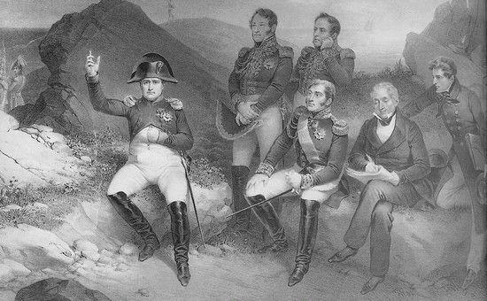 Napoleon na wyspie św. Heleny dyktuje wspomnienia. Ciekawe czy przy okazji dzieli się swoimi przemyśleniami na temat płci pięknej? Może akurat znów dowodzi zalet poligamii?