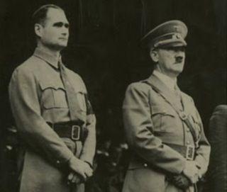 Hitler i jego zaufany zastępca...
