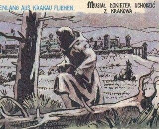 """Ucieczka Łokietka z Krakowa nie była wcale pierwszym niefartem w jego karierze... (wycinek ilustracji z albumu """"Władysław Łokietek"""", wydanego przez """"Sport i Turystykę"""" w 1985)."""