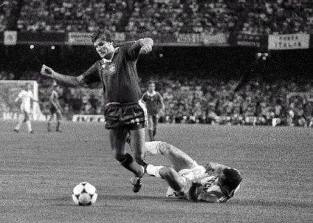 Smolarek na mundialu w Hiszpanii w 1982 roku.