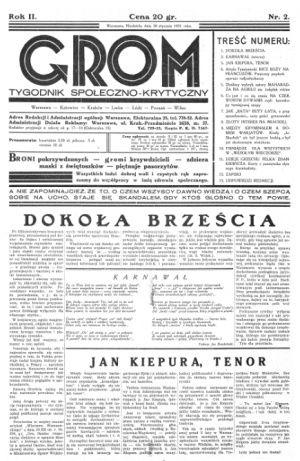 """Artykuł powstał w oparciu o artykuły publikowane w 1931 roku przez czasopismo """"Grom: Tygodnik społeczno-krytyczny""""."""