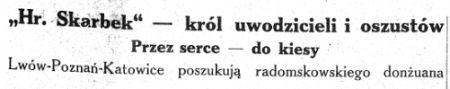 """Artykuł, którym """"Grom"""" zainicjował swoją krucjatę przeciwko Tłuchowskiemu...."""