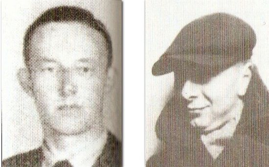 """Piotr Downar """"Azor"""" i Mieczysław Eckhardt """"Bociana"""". To oni towarzyszyli Alfredowi Paczkowskiemu """"Wani"""" tego feralnego listopadowego dnia, gdy ten złamał nogę."""
