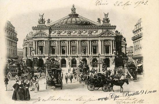 Gmach paryskiej opery. Całkiem okazały, no ale budowa Poczty Głównej w Gdyni była znacznie droższa. Cóż, widać Francuzi nie mieli swojego inż. Ruszczewskiego.