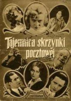 """Plakat z 1929 r. reklamujący """"Tajemnicę skrzynki pocztowej"""". Filmu który kosztował fortunę."""