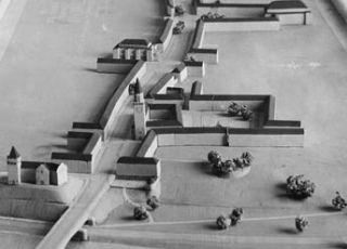 Idealne miasto Auschwitz. Makieta przygotowana przez Hansa Stosberga.