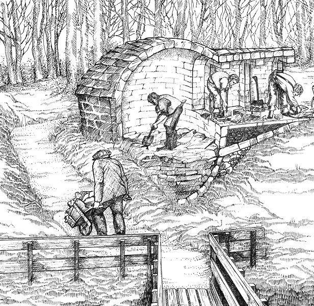 Budowa lodowni nie była przedsięwzięciem dla jednej osoby. Ale od czego pani dziedziczka miała chłopów folwarcznych?