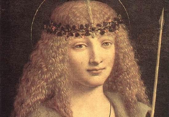 Ten mężczyzna o anielskiej twarzy to Gian Galeazzo Sforza. Delikatna fizjonomia należała do człowieka, który od żony wolał pięknych młodzianków, a w złości katował swą małżonkę.