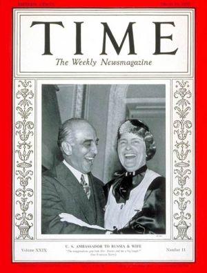 """Wspólnie z małżonką na okładce poczytnego magazynu """"Time""""."""