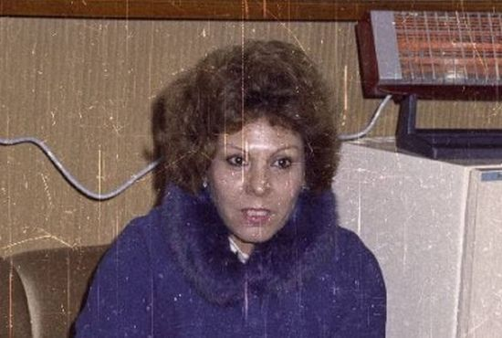 """Sadżida Talfah, żona Saddama Husajna. Fragment zdjęcia zamieszczonego w """"Kobietach dyktatorów 2″."""