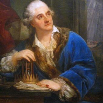 Stanisław August Poniatowski w rozmarzeniu. Czyżby śnił na jawie o pięknej Katarzynie?