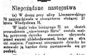 """Wyrywek z artykułu o Władysławie H. opublikowanego przez łódzki """"Prąd""""."""