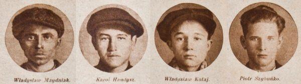 """Organizatorzy buntu w stanisławowskim więzieniu na zdjęciach opublikowanych przez """"Tajnego Detektywa"""". Niewielu spośród nich zdążyło ukończyć 18 rok życia."""