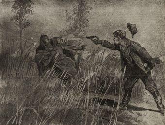Wojciech Kruk zabija celnym strzałem swą wiarołomną żonę, Julię!
