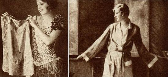 """Panowie, których nie było stać na drogie klejnoty oraz futra zawsze mogli, zdaniem dziennikarki """"Światowida"""" sprezentować swoim ukochanym powiewną combinaison lub modną pidżamę."""