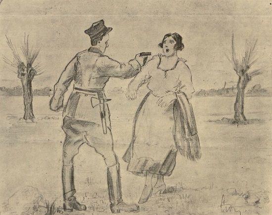 Tragiczny koniec wielu historii z bigamią w tle: mąż wraca po latach do domu. Żona, rzekomo niewierna, ginie z jego ręki.