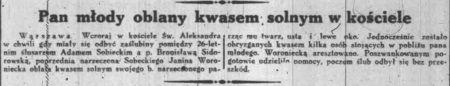 """Zemsta wzgardzonej kobiety. Przypadek opisany przez """"Dziennik Poranny""""..."""