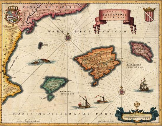Mudżāhid zajął Baleary w 1015 r. i nie oddał władzy przez długie 30 lat. Pierwsza od lewej Ibiza.