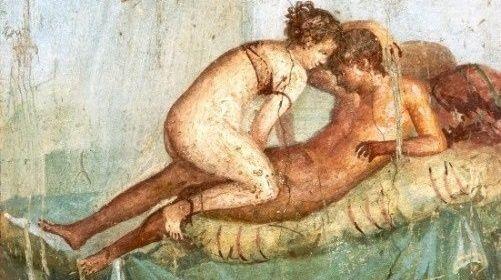 Miłość (pornografia?) po rzymsku. Słynny obraz prosto z Pompejów.