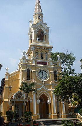 Kościół św. Franciszka Ksawerego w Sajgonie. To w nim szukali schronienia bracia Ngo.(fot. Thuydaonguyen; lic. CC ASA 3.0).