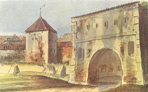 Nowa Brama u wylotu ulicy Siennej. Na początku XVII wieku tutaj znajdował się oficjalny miejski burdel.