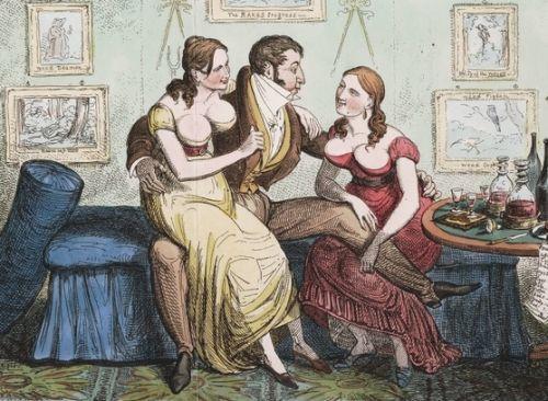 Partnerki do spania. XVIII-wieczna rycina.