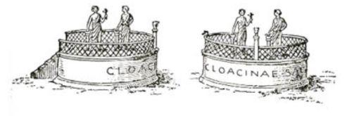 O wszechmocna Cloacino, miej w opiece mą kupę! Rzymska kapliczka bogini ścieków i defekacji.