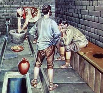 Pogawędka przy kupie. Dla starożytnych Rzymian normalka.