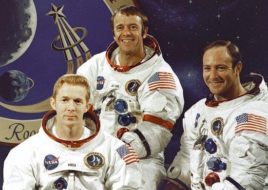 Do podboju kosmosu potrzebni byli prawdziwi macho, dlatego NASA przymykała oko na ich wybryki. Na zdjęciu członkowie misji Apollo 14. Od lewej: Stuart Roosa, Alan Shepard i Edgar Mitchell.