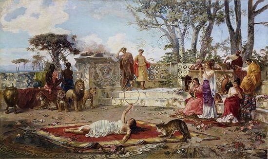 Włoski artysta Corinaldo znacznie bardziej sielsko przedstawiał to co działo się na Capri.