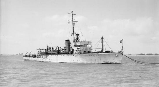 """Brytyjski HMS """"Seagull"""", trałowiec  którego załoga tak zacięcie atakowała """"Jastrzębia"""""""