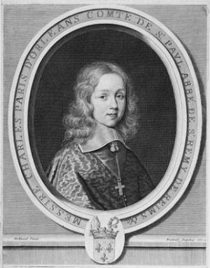 Karol de Longueville. Francuski książę, od którego zaczęła się cała awantura. Na obrazie jeszcze jako chłopiec, ale zmarł niewiele starszy - w wieku 23 lat.
