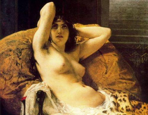18-letnia Kleopatra nie spodziewała się żadnego oporu wobec swoich rządów. I swojego uroku... (obraz włoskiego malarza Mosè Bianchiego z 1865 roku).