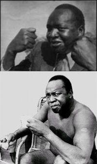 Idi Amin jako bokser. Niewiele zachowało się zdjęć z tego etapu jego kariery.
