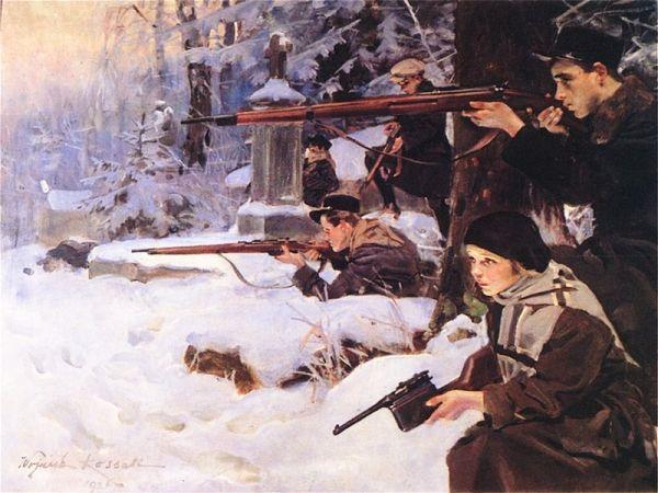 Lwowskie dziewczęta w 1918 walczyły jak żołnierze i nie ustępowały w odwadze swoim kolegom.