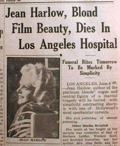 Naglą i niespodziewaną śmierć blond piękności opisywano na pierwszych stronach amerykańskich gazet.