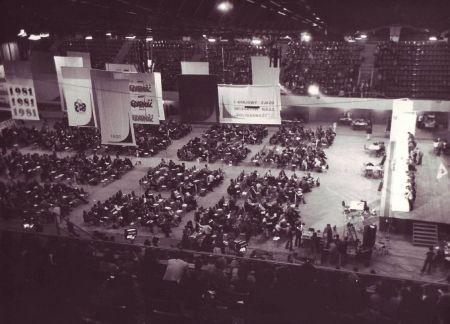 Sala obrad Zjazdu na miniaturze zdjęcia z serwisu Sierpien1980.pl. Zobacz całą galerię klikając tutaj.