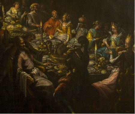 Tak wyglądały biesiady u schyłku epoki renesansu. Obraz frederika van Valckenborcha (fot. Kamil Janicki, wykonana w muzeum na zamku w Bratysławie).