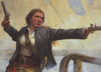 Anne Bonny. Jedna z najsłynniejszych piratek.