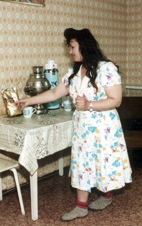 Nawet po latach od ślubu, Galina Rodionowna zachowała wiele ze swojego uroku.