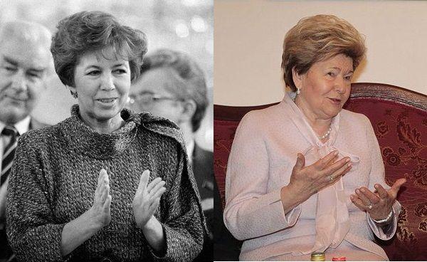 Dwie kolejne pierwsze damy Kremla wzięły jego kucharską załogę w obroty. Na zdjęciu po lewej Raisa Gorbaczowa (zdjęcie opublikowane na licencji CC-BY-SA 3.0, RIA Novosti archive, Vladimir Akimov), po prawej Naina Jelcyna (zdjęcie opublikowane na licencji CCA 3.0, autor: www.kremlin.ru).