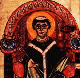 Średniowieczny biskup.