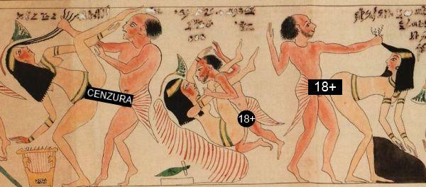 """Swobodne podejście Egipcjan (i ich bogów) do seksu doskonale pokazuje tak zwany """"Erotyczny papirus"""" z Turynu."""