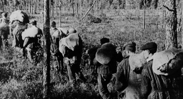 Mordercze marsze pośród mrozów Syberii były jedną z przyczyn śmierci więźniów. Kto nie miał siły brnąć w śniegu, zostawał i zamarzał.