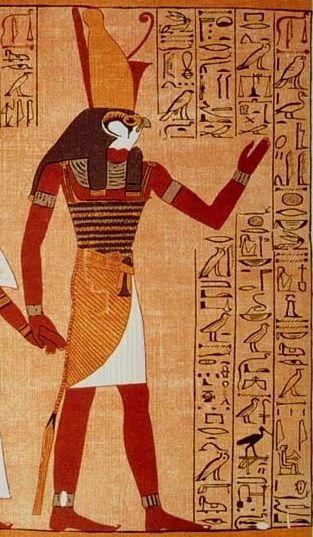 Egipski bóg Horus, jeden z bohaterów mitu o gadającym boskim nasieniu.