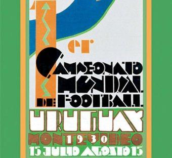 Plakat pierwszych piłkarskich mistrzostw świata. Urugwaj 1930.