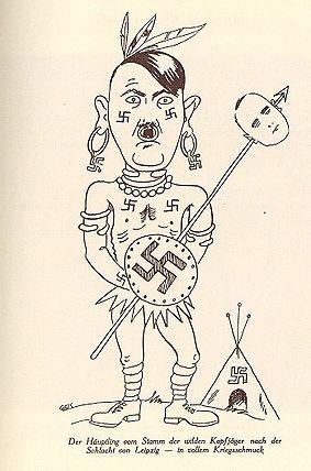 Na początku lat 30. karykaturzyści przewidywali, że Hitler u władzy będzie się zachowywać jak dzikus...