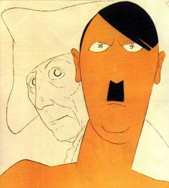 Hitler na karykaturze z 1932 roku. Jeszcze nie doszedł do władzy, a już się z niego śmiali...