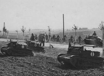 Tankietki TK-3 w trakcie manewrów na Wołyniu w 1938 r. Szwadron tych maszyn wziął udział w rajdzie na Fraustadt (Wschowie).